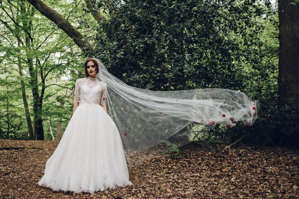 Disney Snow White Inspired Wedding Inspiration shoot Epping Forest, Essex - Alternative Wedding Photographer Essex