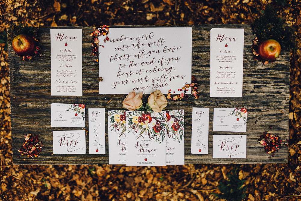 Quirky Disney Wedding Stationary - Alternative Essex Wedding Photographer