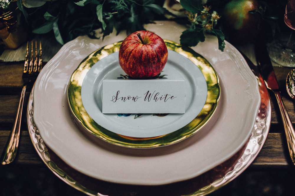 Snow White Disney Table Setting  - Alternative Essex Wedding Photographer
