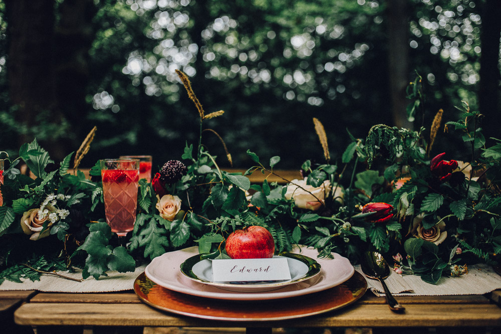 Rustic Snow White Disney Table Ideas  - Alternative Essex Wedding Photographer
