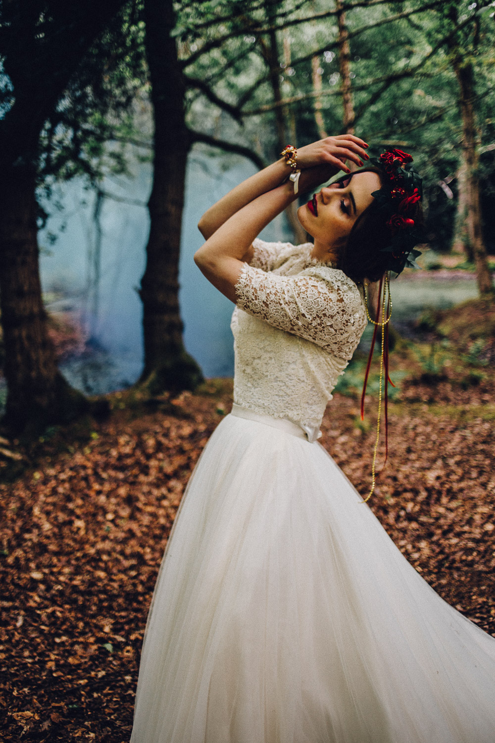 Disney Snow White Rustic Woodland Bridal Ideas smokebombs - Alternative Essex Wedding Photographer