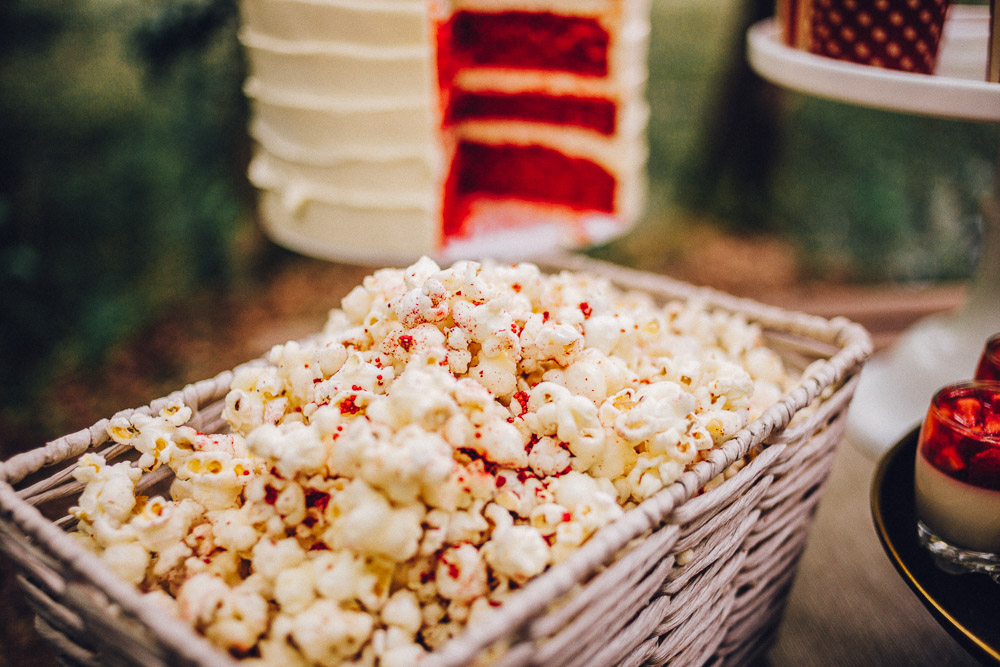 Disney Snow White Wedding Popcorn Favours - Alternative Essex Wedding Photographer