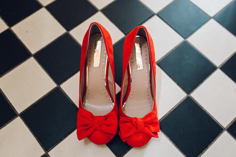 Alternative Wedding Shoe Ideas // Fun Creative Wedding Photography Essex
