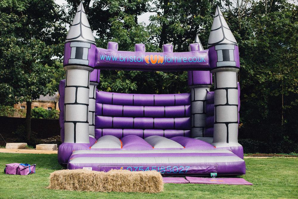 Fun Alternative Wedding Bouncy Castle