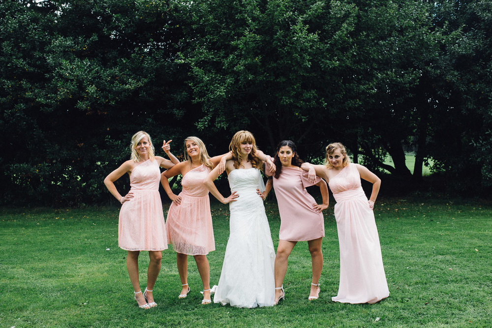 Bridal Party Poses for Group Shots
