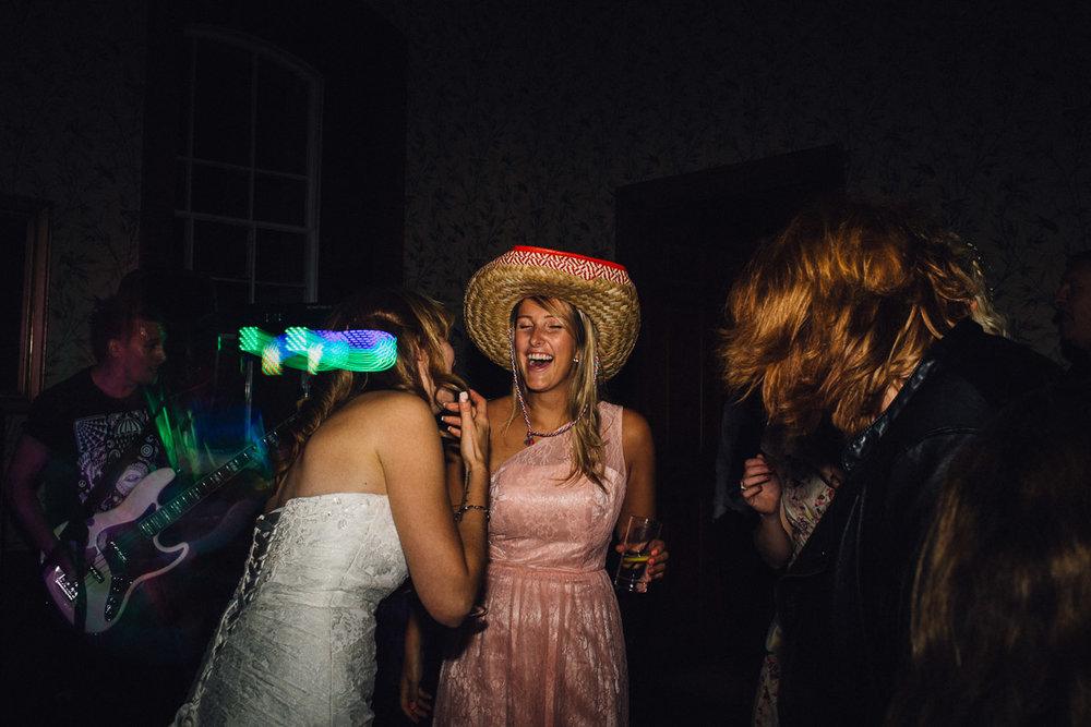 Bridesmaid dancing in Sombrero