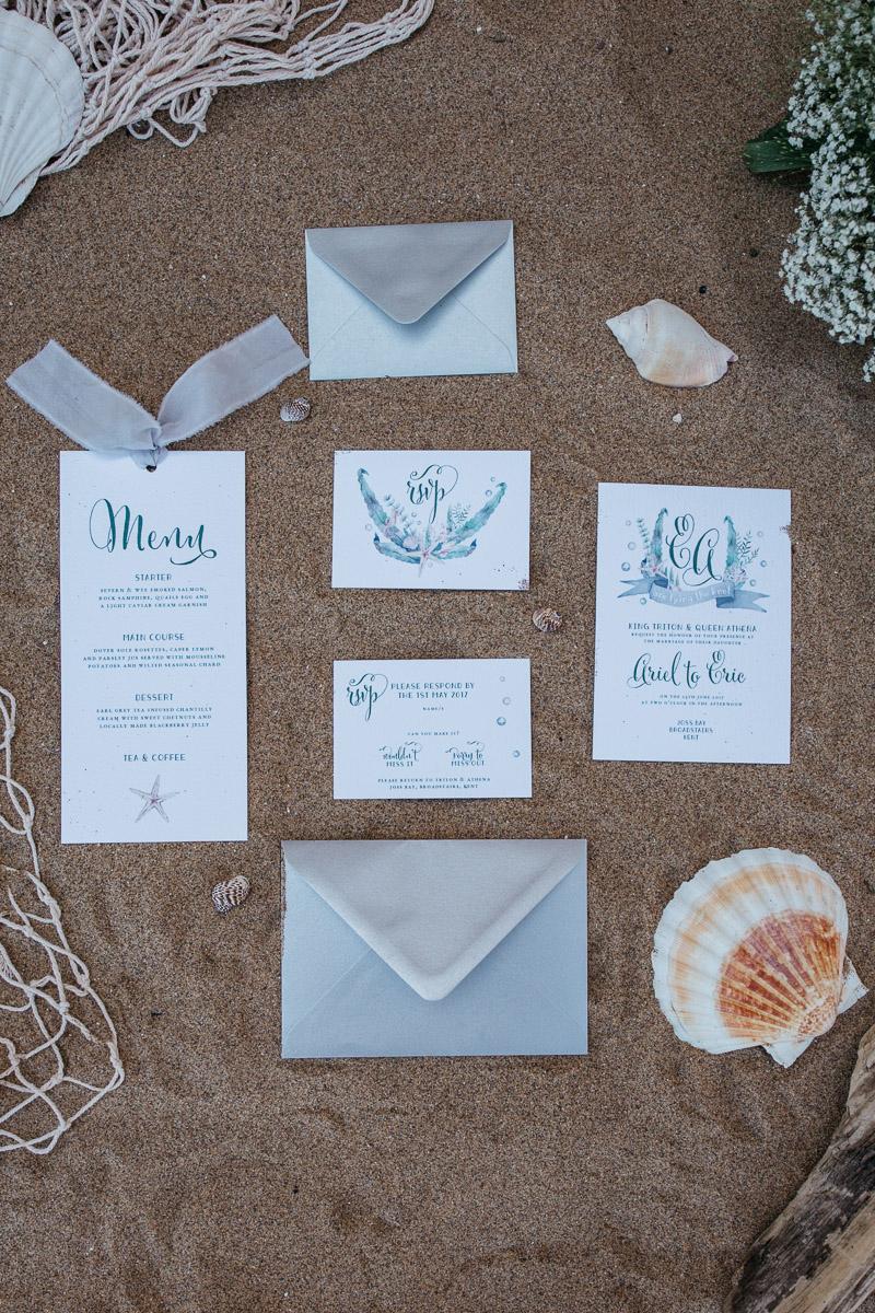 Disney Boho Beach Inspired Wedding Stationery