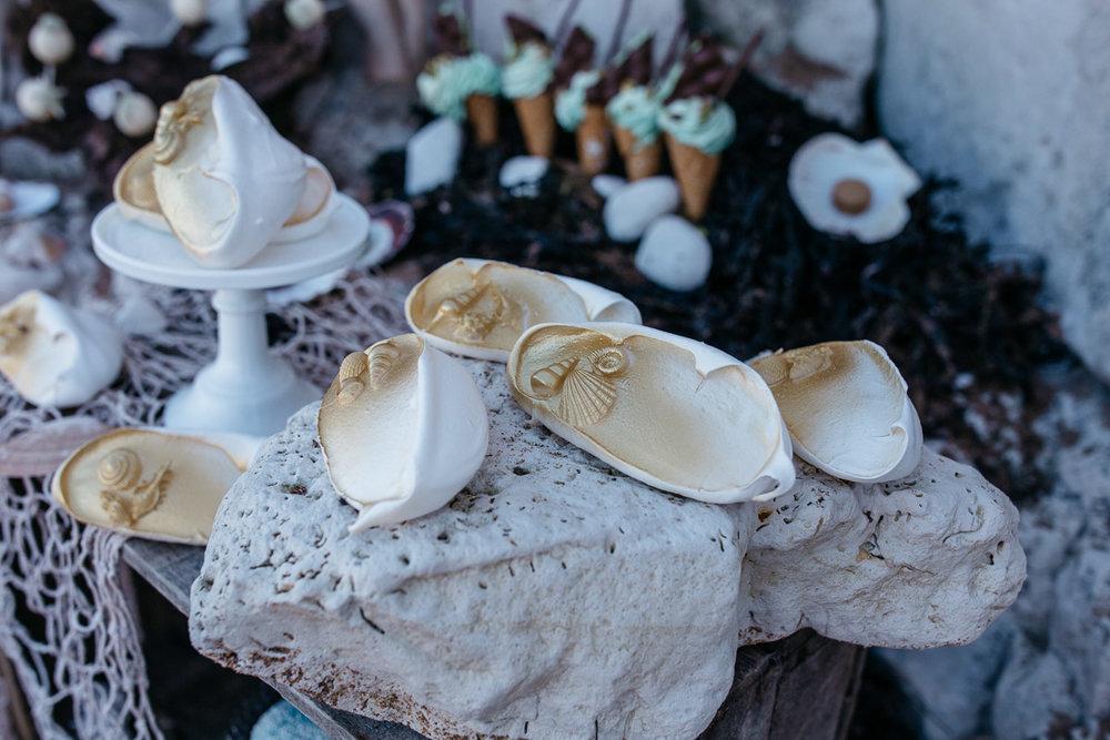 Shell Meringue Nests Disney Boho Beach Inspired Wedding