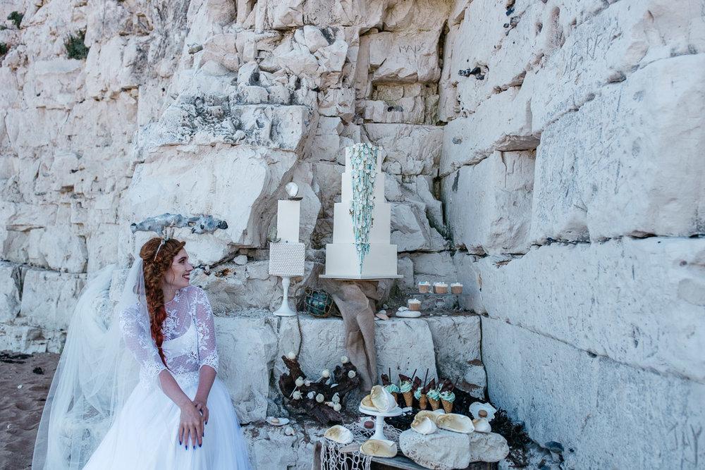 Disney Boho Beach Inspired Wedding Dessert Table