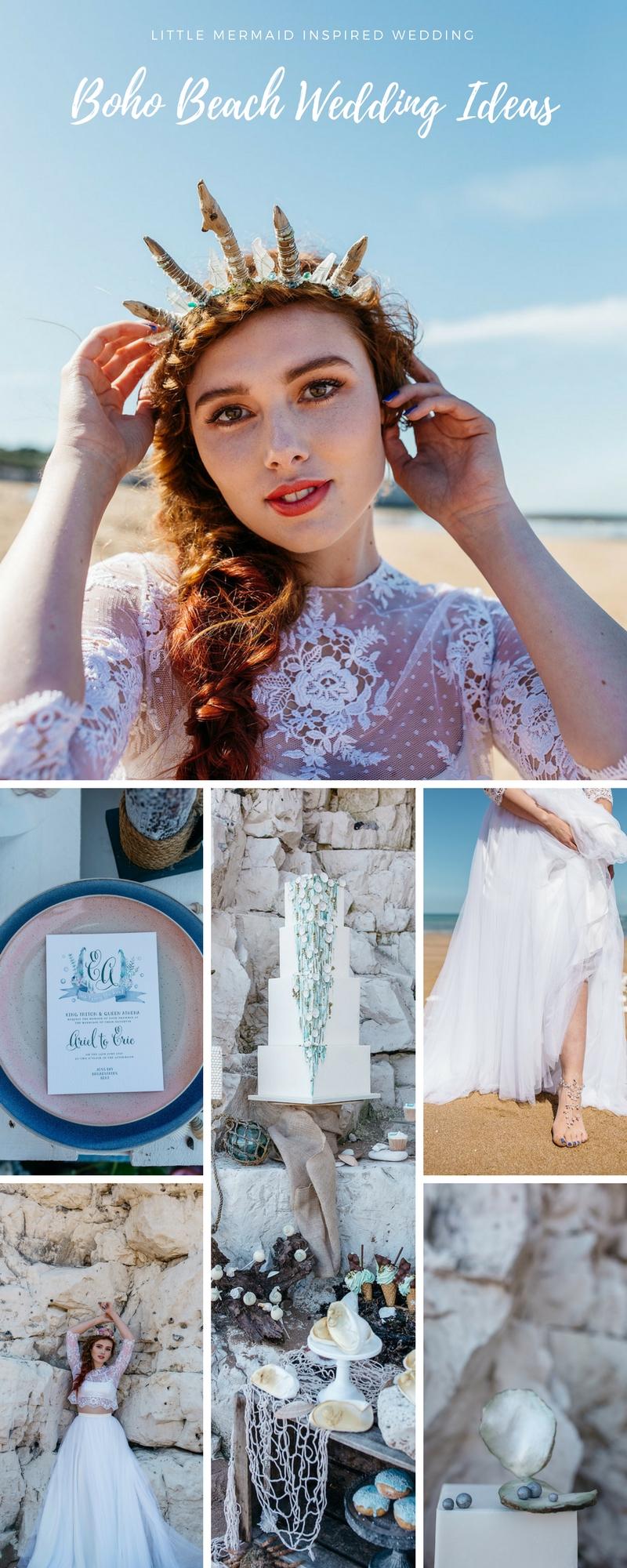 Little Mermaid Inspired Beach Wedding Ideas