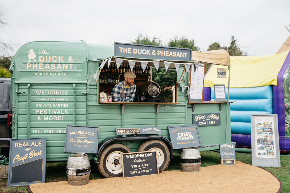 Alternative Wedding Food Ideas - Mobile Bar