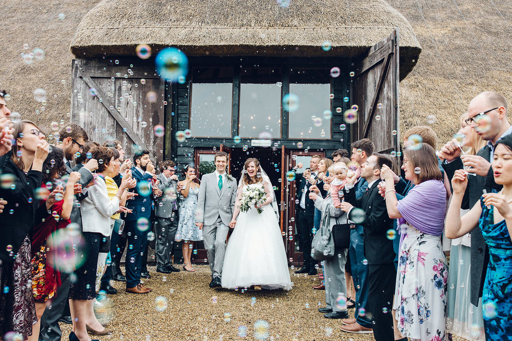 Colville Hall, Chelmsford Essex - Barn Wedding Essex Bubble Confetti