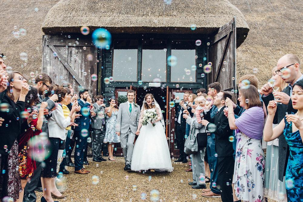 Colville Hall, Chelmsford Essex - Barn Wedding Essex Bubble Confetti