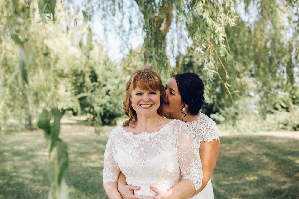 Lesbian Wedding at Channels Estate Essex