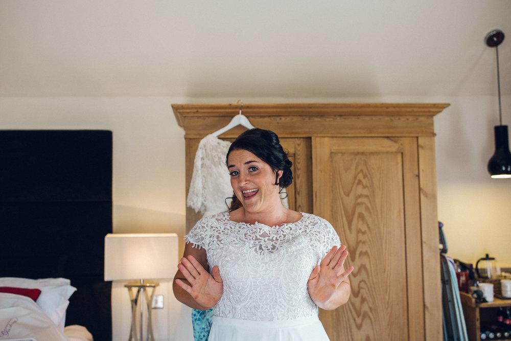 Bride Getting Ready - Lesbian Wedding Channels Estate Essex