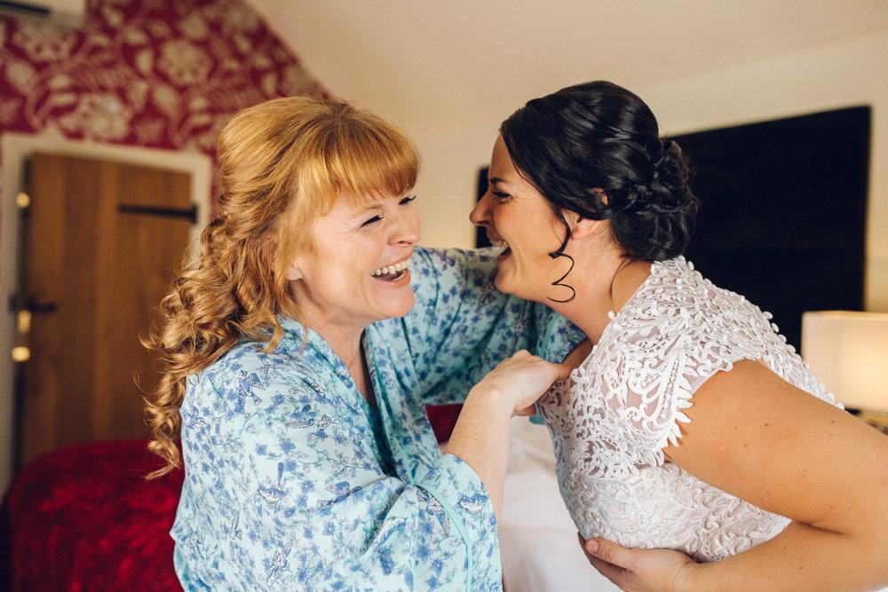 Brides Getting Ready - Lesbian Wedding Channels Estate Essex