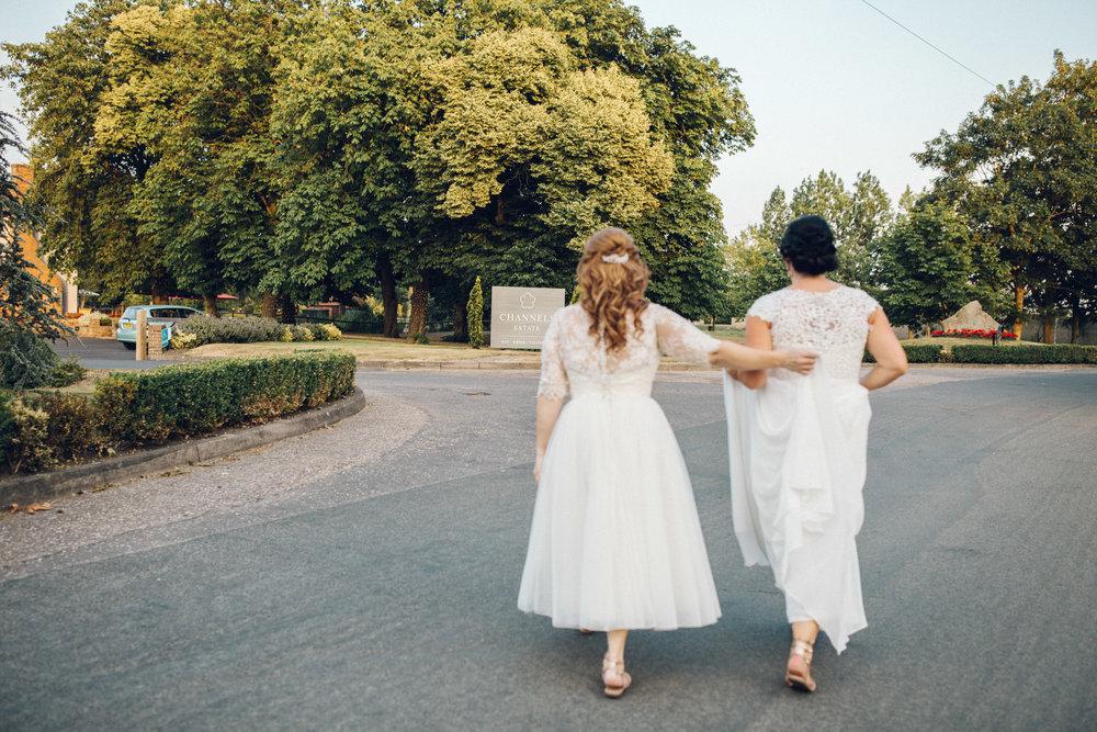 Same sex wedding Channels Estate Essex