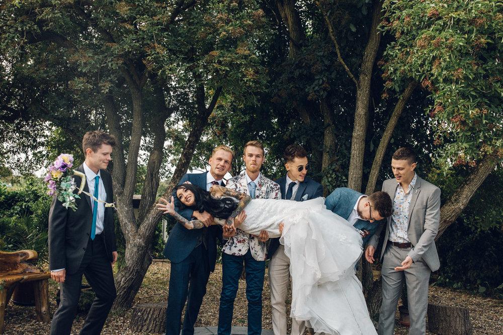 Alternative wedding photography at Zinnia Garden Banstead