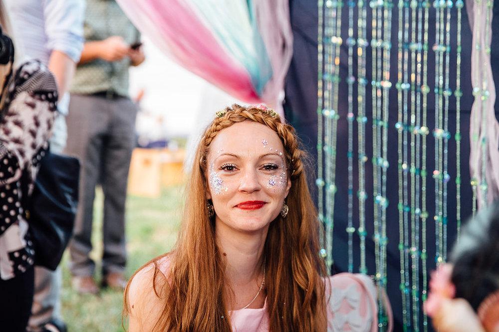 Glitter Station at Wedding - Fun Wedding Entertainment Ideas