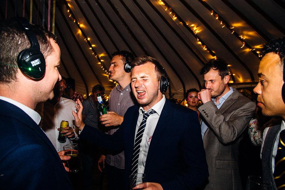 Silent Disco at Wedding - Fun Wedding Entertainment Ideas