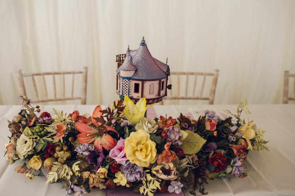 Zinnia Gardens Banstead wedding Disney Rapunzel theme