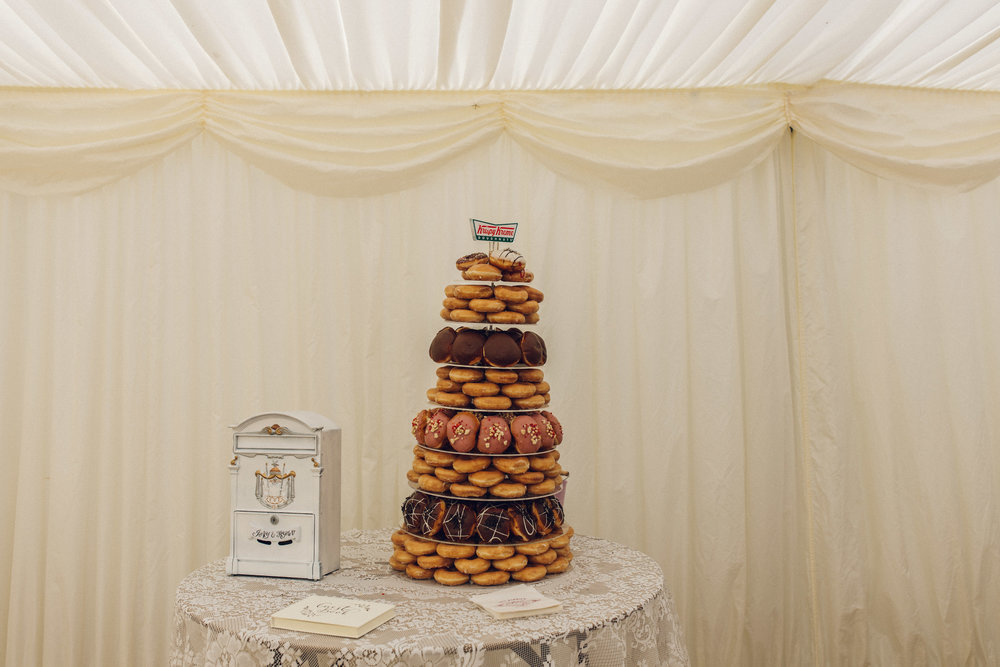 Krispy Kreme UK Doughnut wedding cake Zinnia Garden Surrey