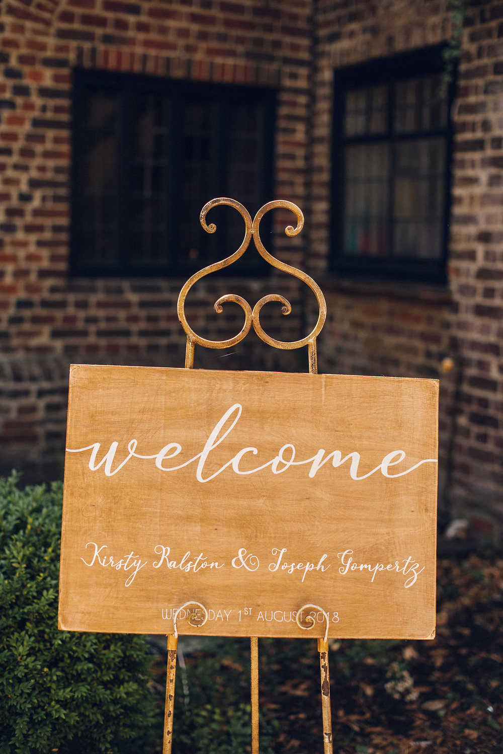 Rustic Welcome Sign, Tudor Barn, Eltham - Alternative wedding photography kent london