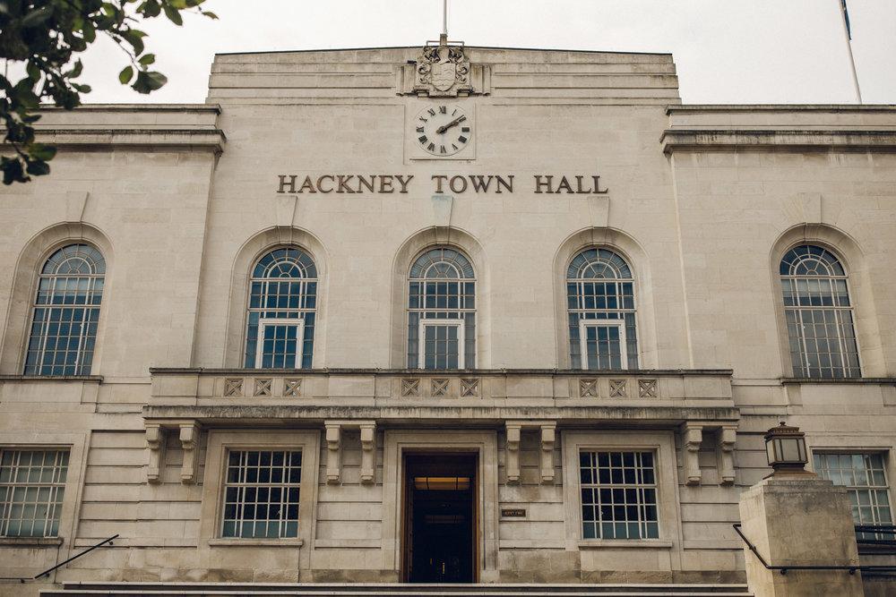 Hackney Town Hall Wedding Alternative Photographer London Essex