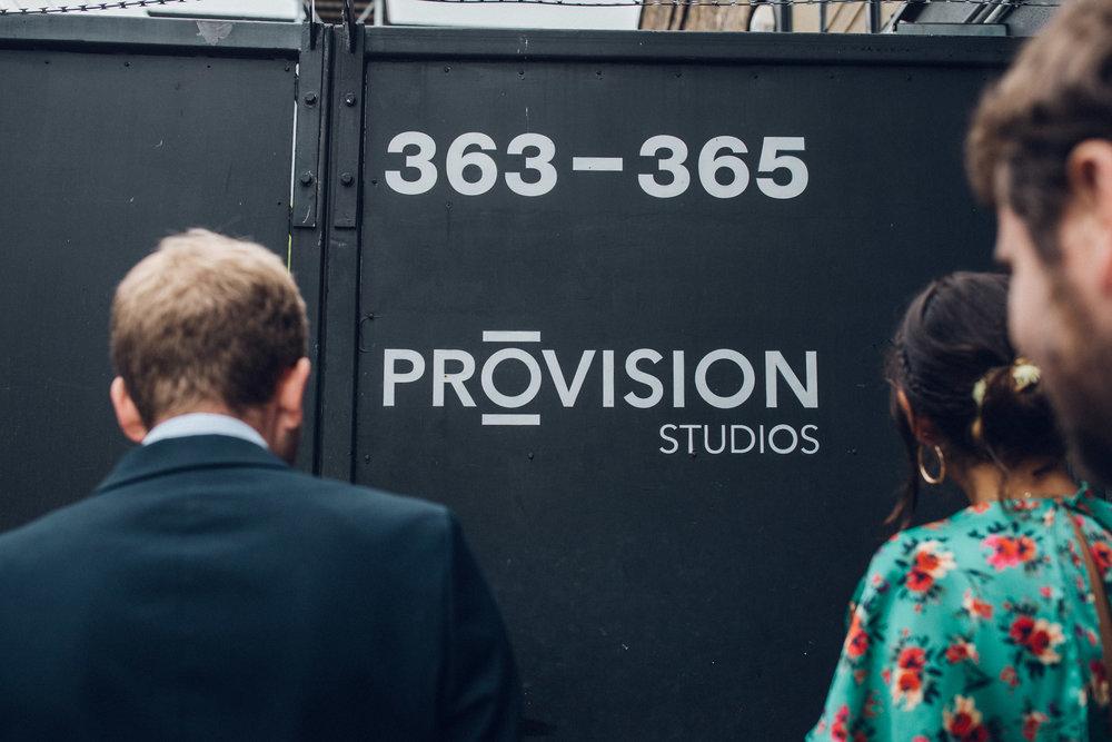 Provision studios Hackney Arches Wedding