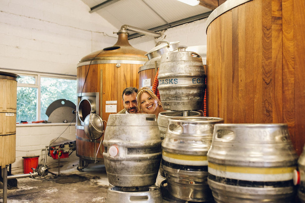 Alternative Kent Brewery Wedding