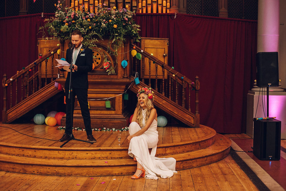 Quirky colourful wedding Hackney Round Chapel London Photographer