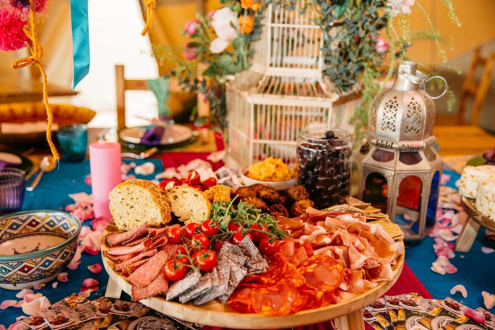 Colourful Grazing Platter 2019 Wedding Trend Festival Themed Wedding