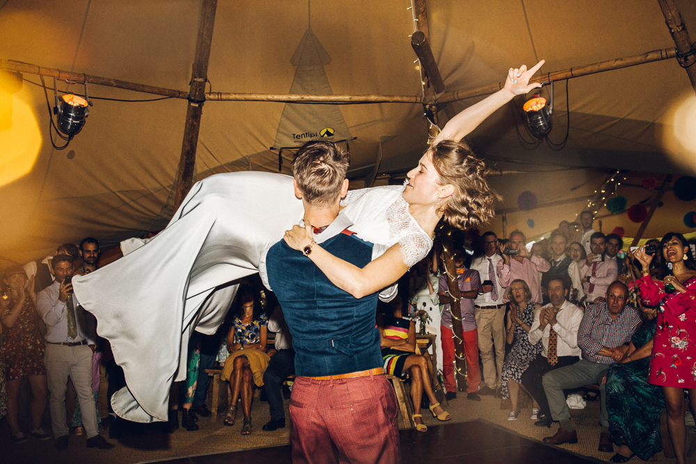 Alternative First Dance Song Ideas Boho Tipi Festival Wedding Indie Rock
