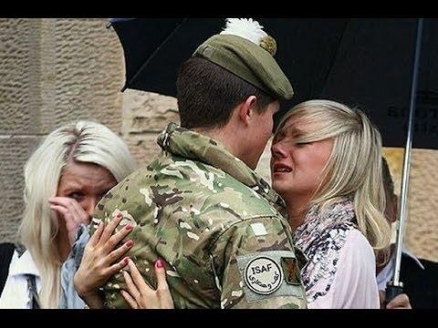 Soldier returning