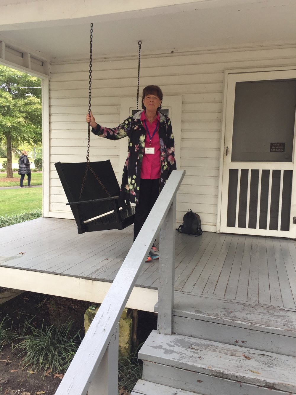 Barbara at the birthplace of Elvis