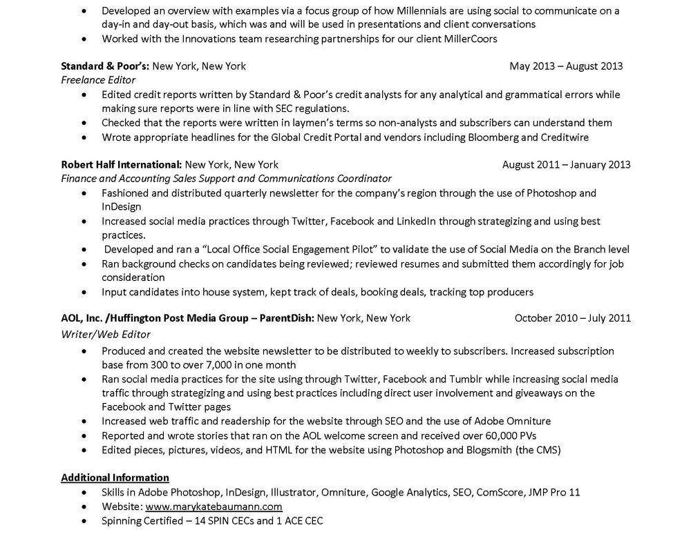 resume u2014 mkb - Additional Information Resume