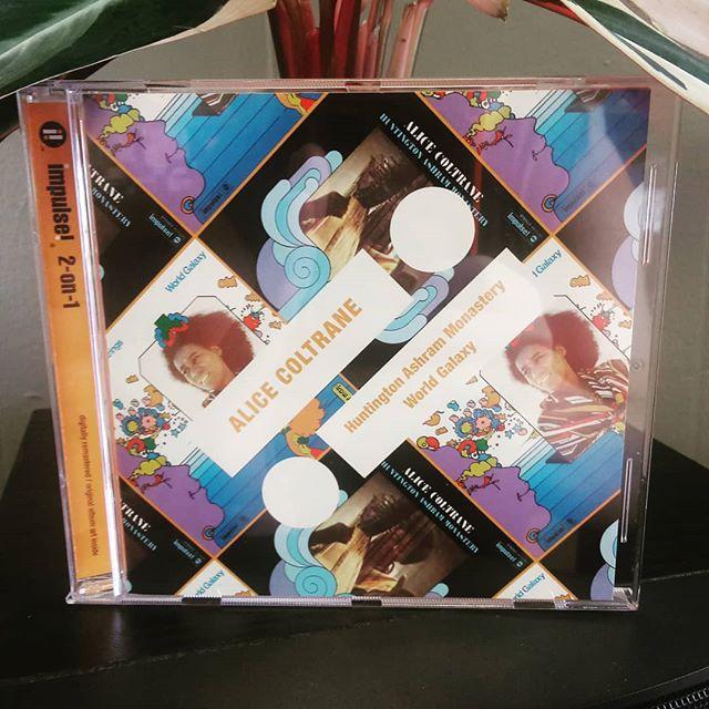 Alice Coltrane - Huntington Ashram Monastery/World Galaxy (Impulse 1969/1972, 2011 2-on-1 reissue 💿) #nowplaying #notstreaming #alicecoltrane #roncarter #rashiedali #franklowe #reggieworkman #benriley #swamisatchidananda #leroyjenkins #impulserecords #knoxville #knoxvillerecordstore #cdjazz #jazzcd