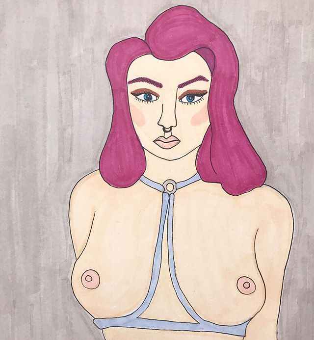 Along, with custom clothing we're going to be adding custom art + art prints by @kileyfornia on the Etsy!! - - - #shop #etsy #onlineshop #art #artist #illustration #artprint #artcollector #nipples #freethenipple #drawing #onlineshopping #etsyshop #follow