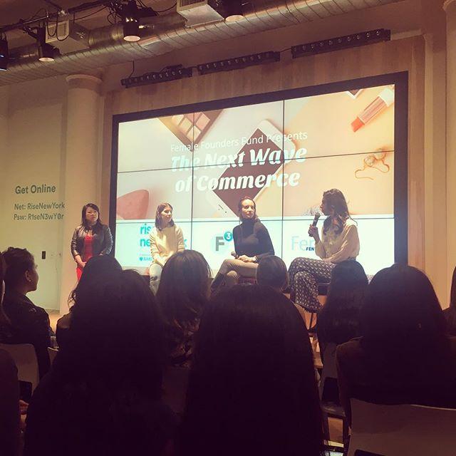 last night's female entrepreneurs fireside chat @therisenyc ... always learning ✍🏻#femalefoundersfund