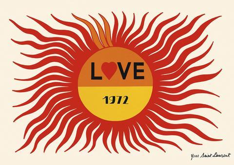 Yves Saint Laurent Love Poster 1972