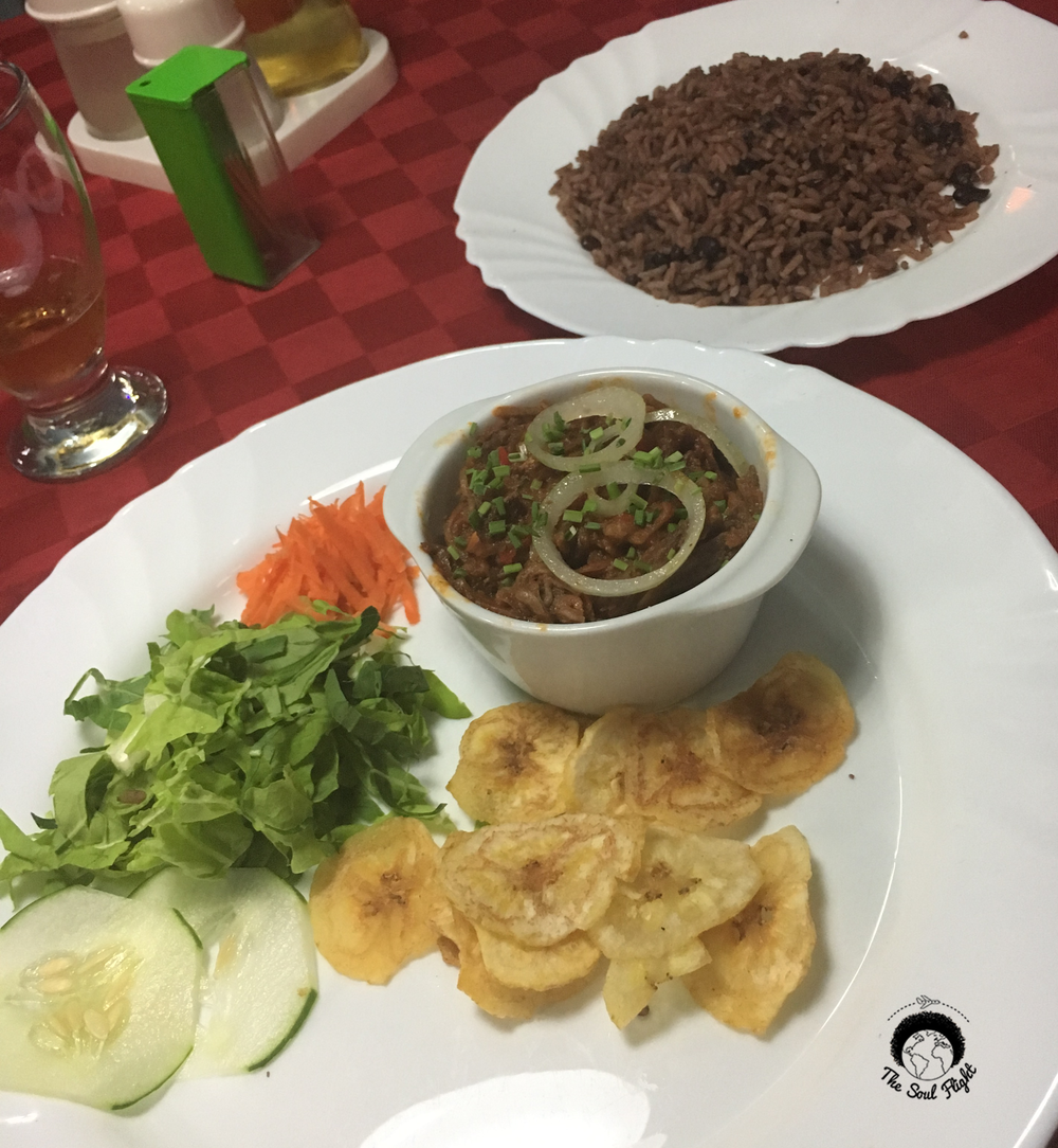 My first meal in Cuba; the meat was cold!