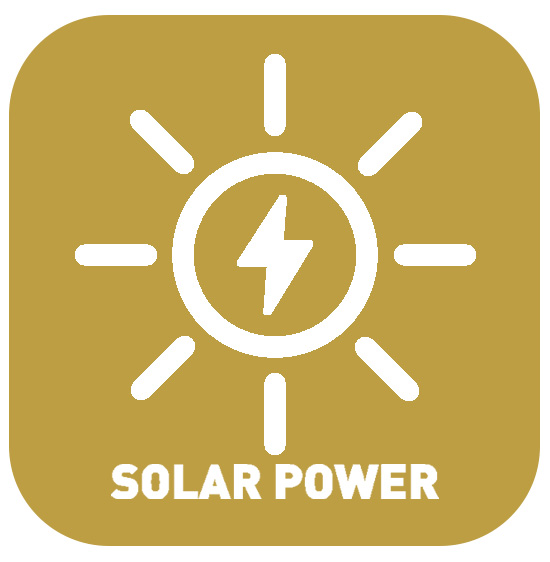 Solid products are all manufactured using solar energy.