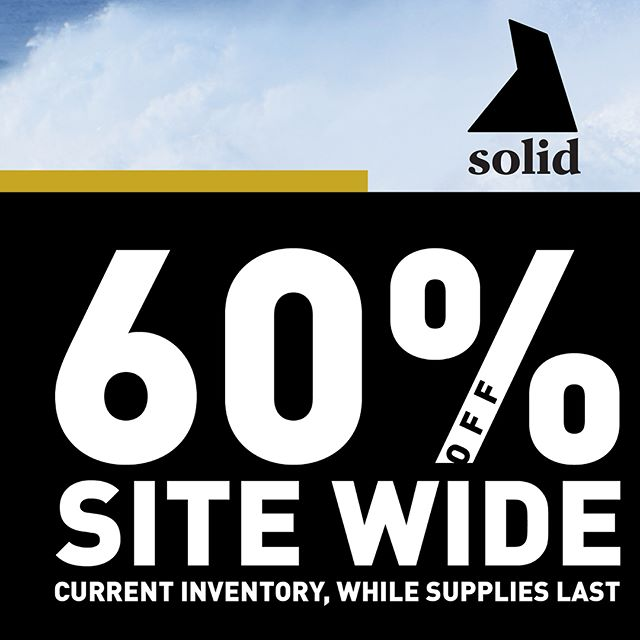 60% off Premium Skin Care and Sun Protection designed specifically for active Outdoor Enthusiast. #BeSolid