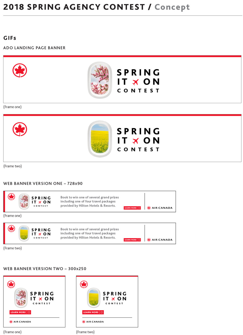 Spring it on travel agency Air Canada ad.jpg