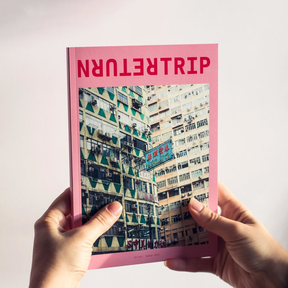 Return Trip   is an independent magazine I launched in April 2019. It aims to showcase the personal aspects of travel — how it can transform us and contribute to our own self-knowledge, self-discovery, identity and growth, and how it can encourage new ways of understanding. Learn more at  returntrip.ca .