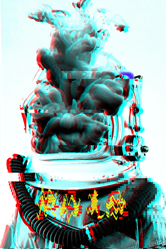"Deep Space Travel - 8""x12"" - $45"