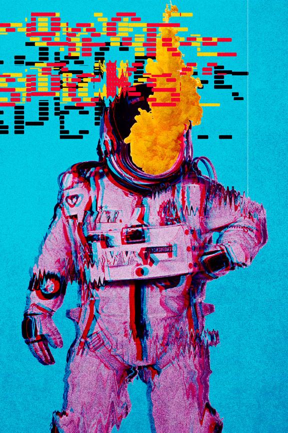 "Space Sucks - 8""x12"" - SOLD"