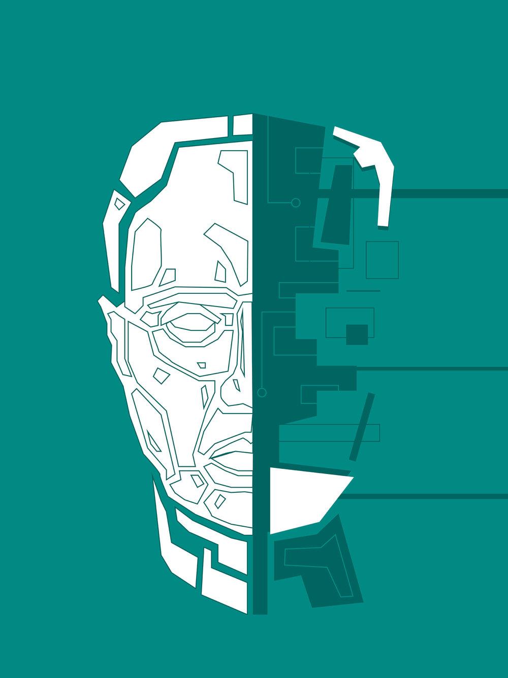 "Augmented Man II - 30""x40"" - $125"