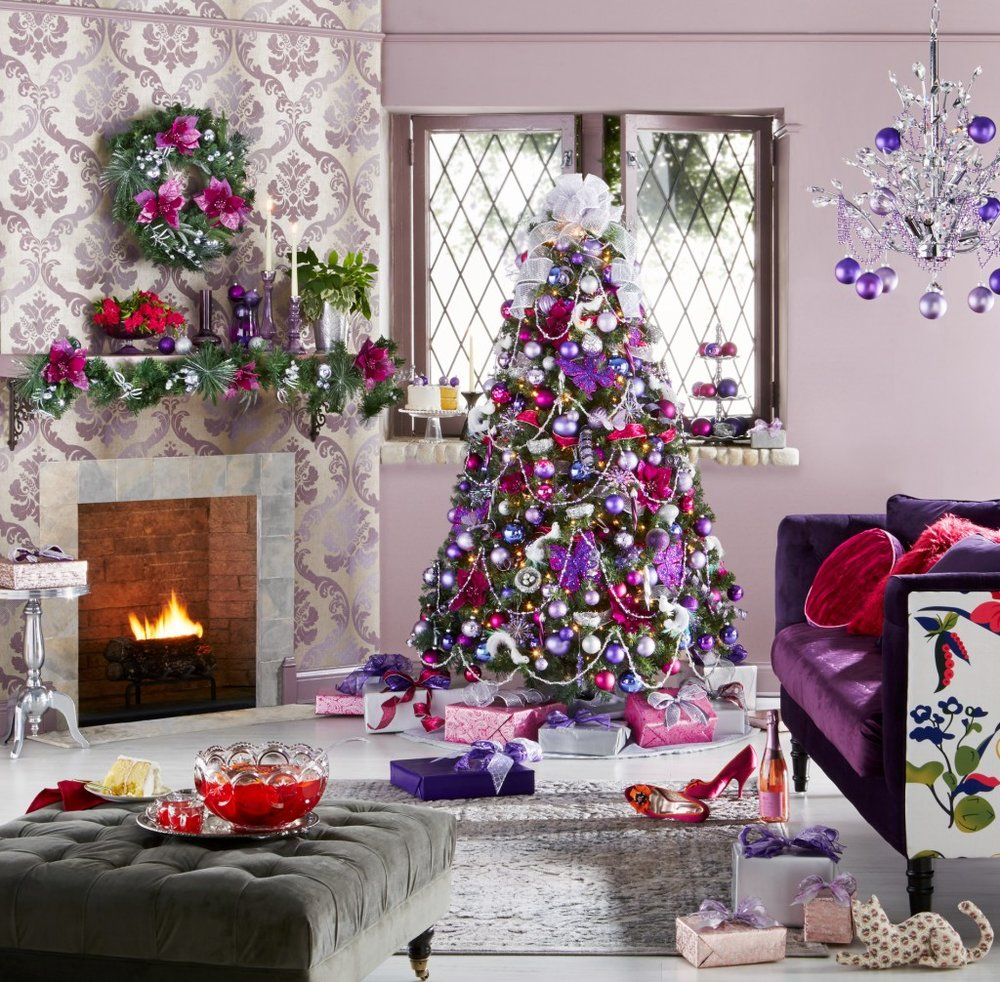 the first step to decorating like a pro this holiday season is choosing your style and colors are you classic chic do you like a little flare - Kmart Christmas Tree Decorations