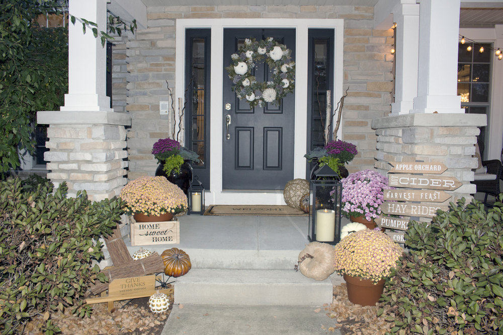 Fall Front Porch, Farah Merhi, Inspire Me! Home Decor